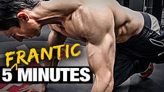 5 minute home fat burning workout frantic fat loss
