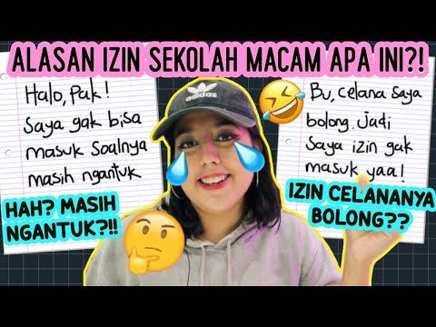 Alasan2 IZIN SEKOLAH paling KACAU!!