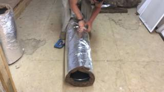 Wrapping duct work