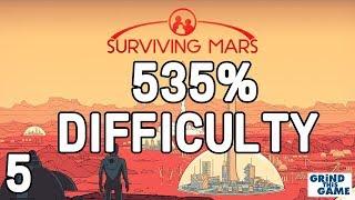 Surviving Mars - HARDEST? #5 (535%) DIFFICULTY - Nano Refinement! Playthrough [4k]