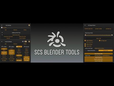 SCS Blender Tools Import Export