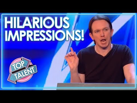 HILARIOUS Impressionists On Britain and Americas Got Talent! | Top Talent