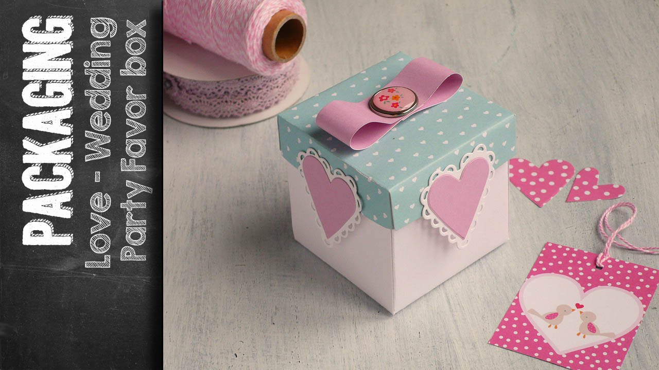love box party favor box using sizzix big shot plus. Black Bedroom Furniture Sets. Home Design Ideas