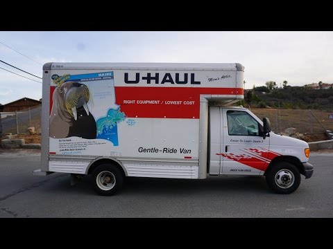 U Haul Truck Review Video Moving Rental How To 14' Box Van Ford Pod