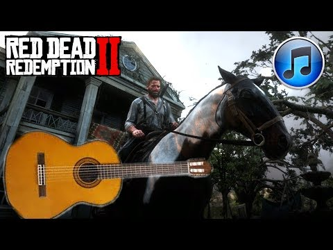 RED DEAD REDEMPTION 2: GUITAR + VOCAL MUSIC ON HORSE AFTER GUARMA TO SHADY BELLE (CLEAN VERSION)