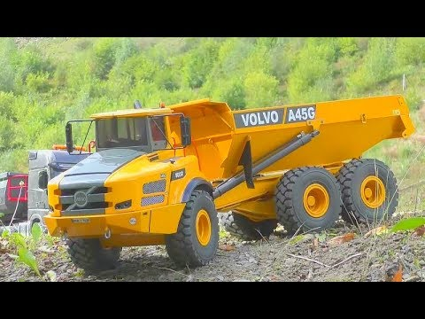 rc volvo a45g in action stunning self made scale 1 14 models heavy rc machines work so hard. Black Bedroom Furniture Sets. Home Design Ideas
