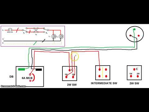 DRAW WIRING DIAGRAM FOR TWO WAY AND AN INTERMEDIATE SWITCH - YouTube