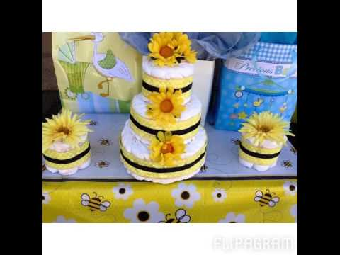 bumble bee baby shower mommy to bee baby shower youtube. Black Bedroom Furniture Sets. Home Design Ideas