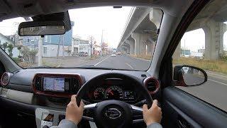 "【Test Drive】 2018 MC Daihatsu BOON Style ""SA"" 1.0L 4WD - POV City Drive"