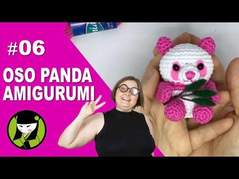 OSO PANDA AMIGURUMI 06 tutorial final del oso tejido a crochet