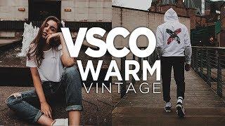 Cara Edit Warm Vintage di VSCO X Android dan iOS