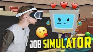Tyttörobotti Työpaikalla! 😍   Job Simulator #2