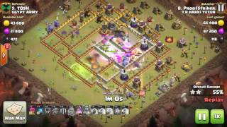 clsh of clans best attack th11 max witch |bowler 3 star war bas