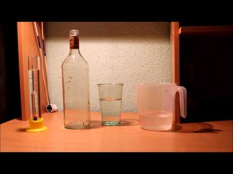 Как разбавить спирт водой до 50 градусов