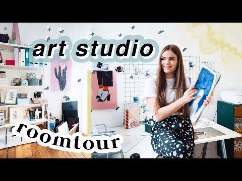 ART STUDIO ROOMTOUR // Mein Kunstzimmer & Aufbewahrung Tipps // I'mJette