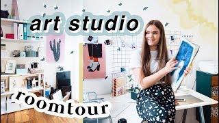 ART STUDIO ROOMTOUR // Mein Kunstzimmer & Aufbewahrung Tipps // I
