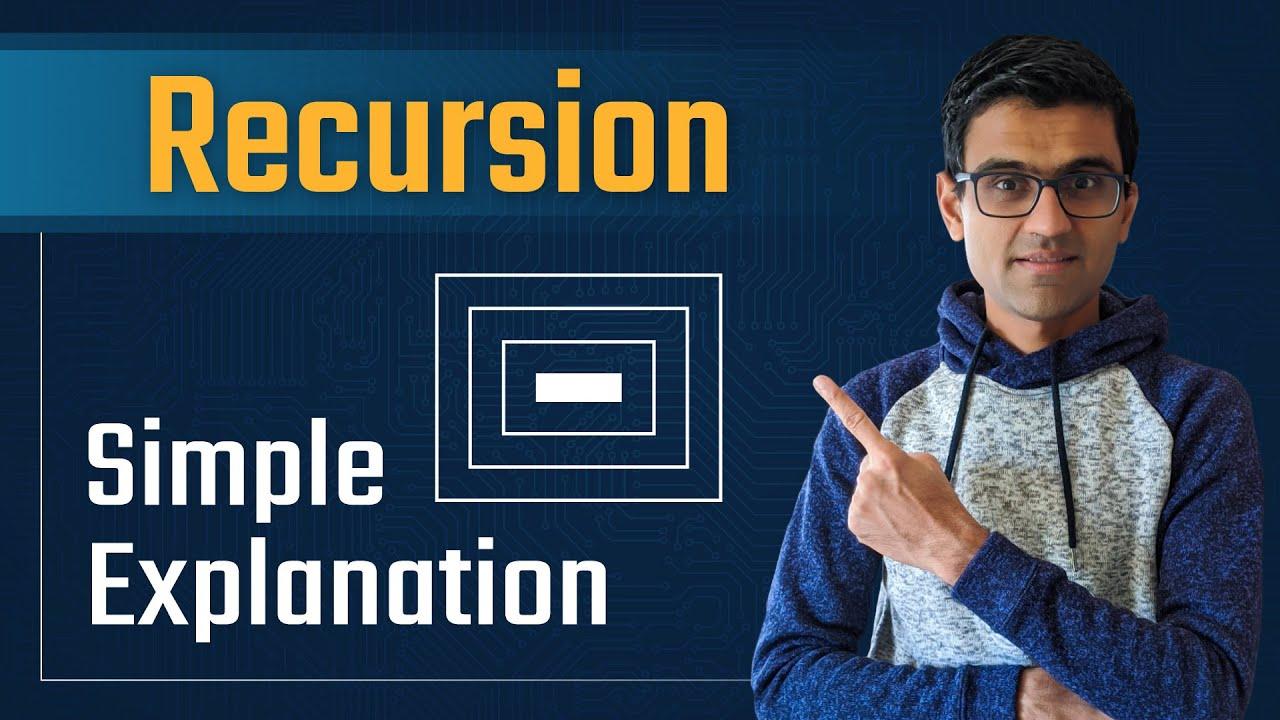 Simple Explanation of Recursion | Recursion Python| Data Structures & Algorithms Tutorial Python