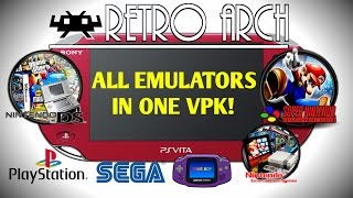 PS Vita 3.60! RetroArch All Emulators In One VPK! PS1, SEGA, SNEX, GameBoy Advance, Nintendo DS!