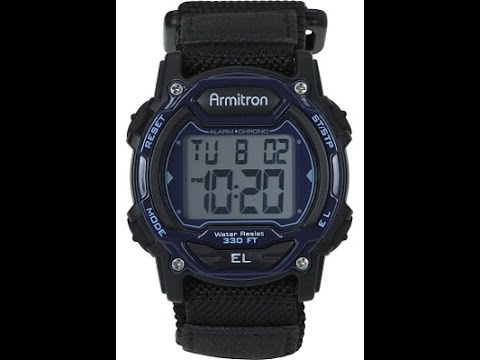How To Change Set Time On Armitron Watch 457004 Youtube