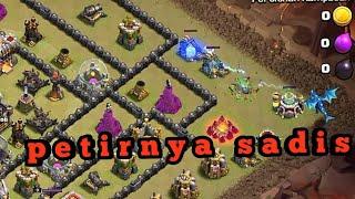 Sadisnya ELECTRO DRAGON Clash Of Clans, Petirnya sampai 4 BANGUNAN