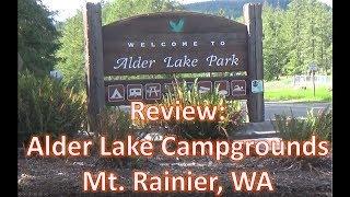 5 Minute Review of Alder lake Campground, Mt Rainier WA