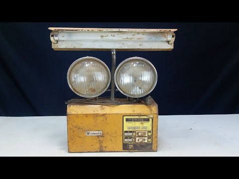 Old and Rusted Emergency Light Restoration - Long Life Restoration
