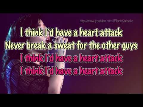 Demi Lovato - Heart Attack (PIANO) [ Karaoke/Instrumental ]
