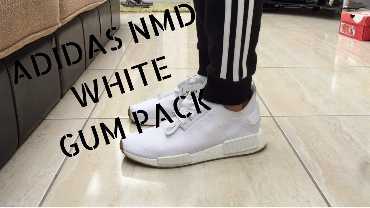 e78cf4895 Adidas NMD White Gum Pack - Quick ON Feet - YouTube