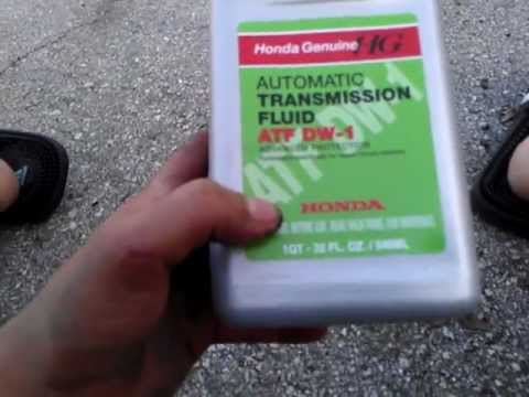 how to change transmission fluid on a 2008 honda accord 4
