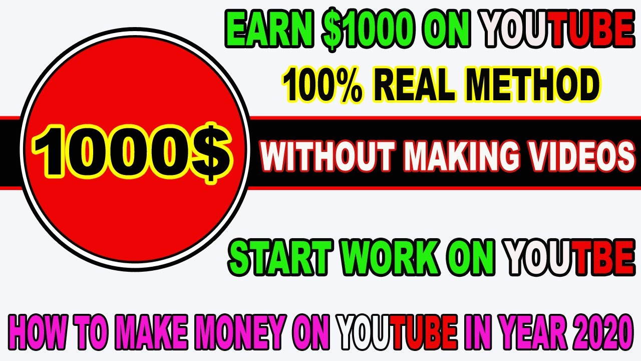 Earn 1000$ on YouTube Without Making Videos 100% Legit ...