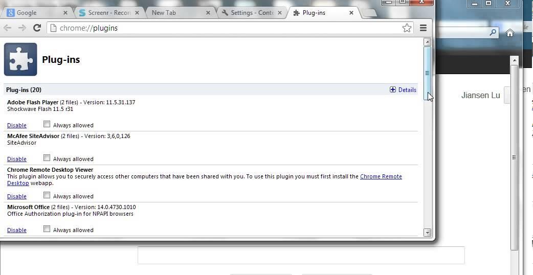 Disable Java in Google Chrome