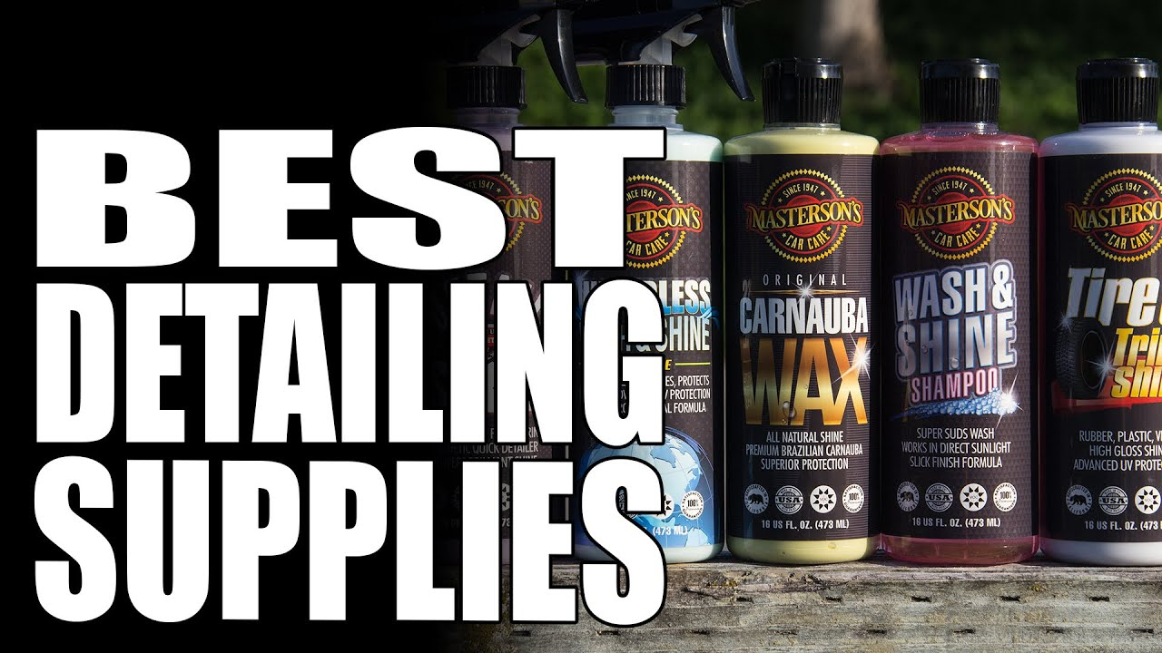 Masterson S Car Care Best Detailing Supplies Made In Usa Youtube
