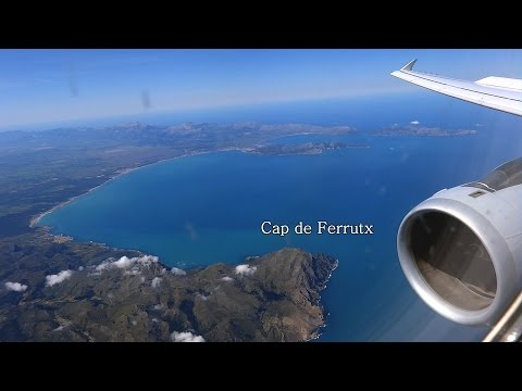 Full Flight to Palma de Mallorca with unique Malle view - Multi-Cam Inflight Video