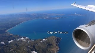Full Flight to Palma de Mallorca with unique Malle view - Multi-Cam Inflight Video(Flight 4U9586 DUS - PMI Duesseldorf to Aeropuerto de Palma with fantastic look to the complete island without any clouds. Original it was a German Wing flight ..., 2016-02-21T19:44:24.000Z)