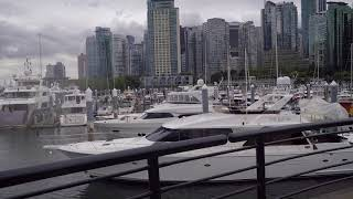 Walking in Vancouver BC Canada - Coal Harbour Area - Yachts & Expensive Real Estate