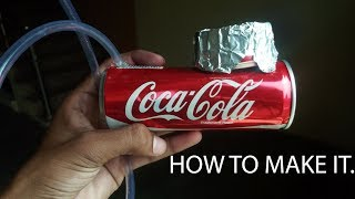 How to make a hookah with coke can easily- How to make it