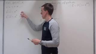 Differentiëren - Het getal e (VWO wiskunde A)