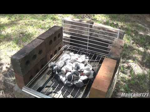 Lodge Grill Pan And Hot Pockets HomeMade Concrete and Brick Grill