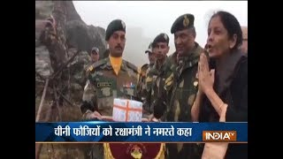 Nirmala Sitharaman teaches 'Namaste' to Chinese soldiers in Nathu La