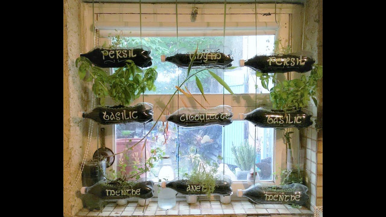 Bien connu Rideau de jardinières en bouteilles de plastique - YouTube NZ28
