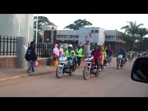 Procession on Okadas in Kenema