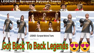 Got Back to Back Legends From LEGENDS - European National Teams || PES Galaxy Mobile