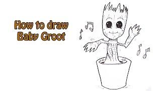 Simple Drawings Groot 2