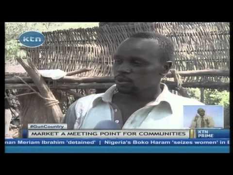 A market in Elgeyo-Marakwet still barter trade to transact business