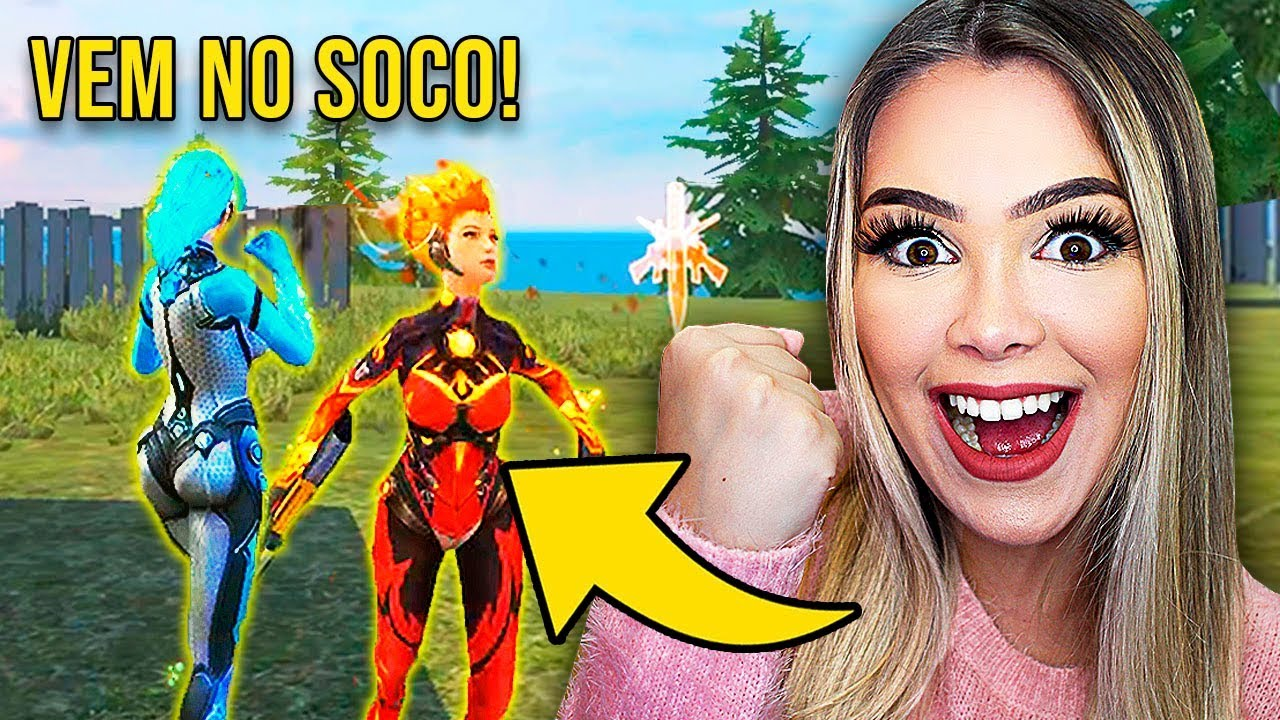 INGREDY BARBI GAMES - Desafio BOOYAH SÓ NO SOCO sem arma a partida INTEIRA do FREE FIRE! ????????
