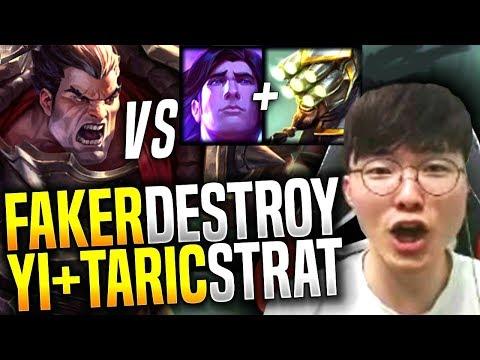 Faker Plays Darius Mid Vs Master Yi & Taric Strategy! - SKT T1 Faker Picks Darius Mid! | SKT T1