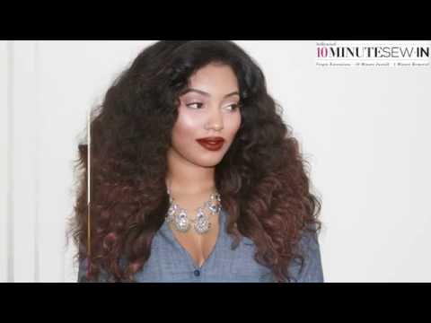Best Kinky Straight Virgin Hair Period Ten Minute Sew in 1