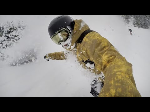 Snowboarding Powder Off The Imperial Chair At Breckenridge - (Season 3, Day 29)