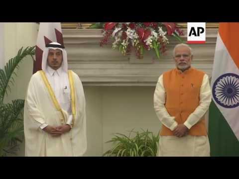 Modi hosts Qatari PM