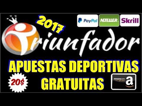 TRIUNFADOR 2017   Gana 20$ con Apuestas Deportivas GRATIS   Serie: Paginas de Apuestas Gratuitas #1